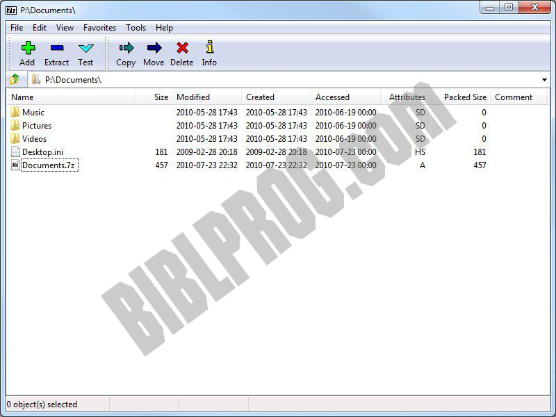 7-Zip free download - BiblProg com