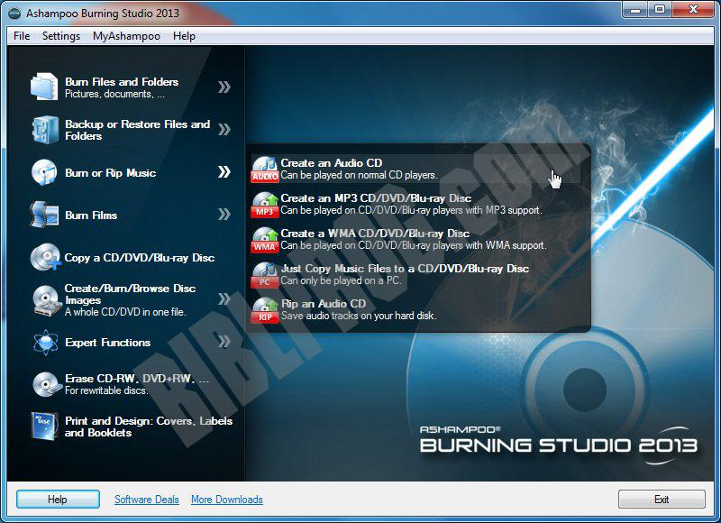 Screenshot Ashampoo Burning Studio Free