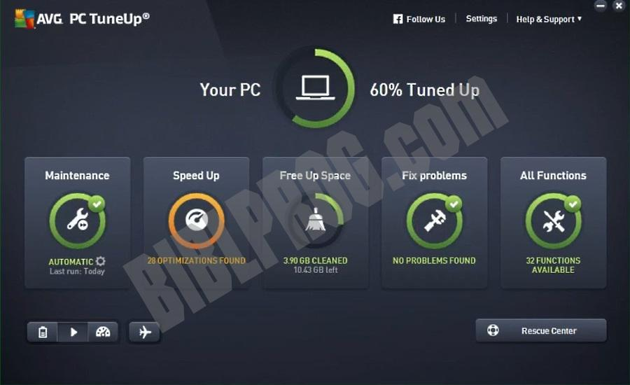 Screenshot AVG PC TuneUp