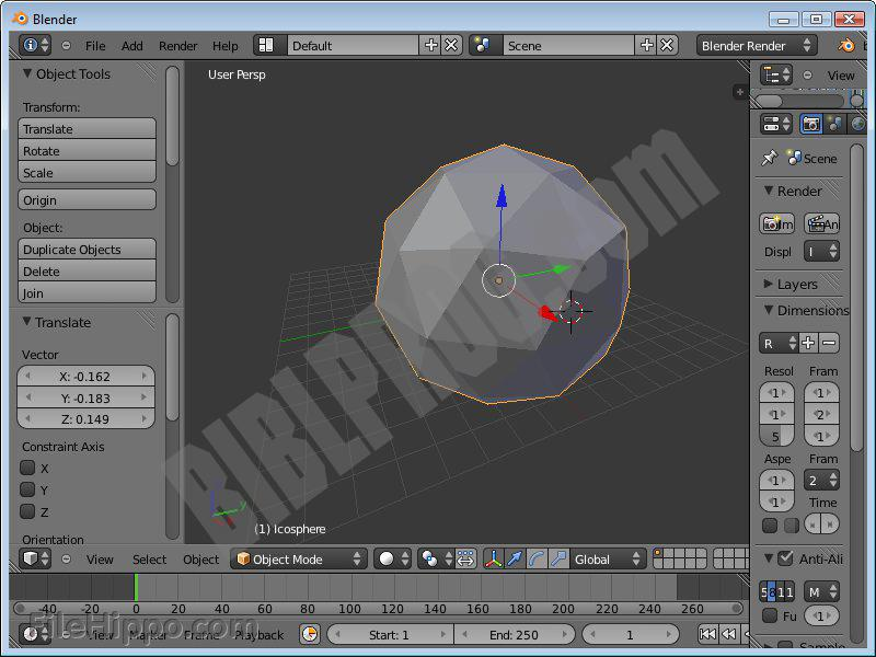 Screenshot Blender