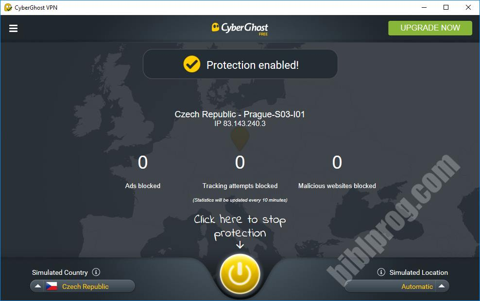 Screenshot CyberGhost VPN
