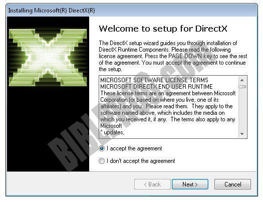 Screenshot DirectX