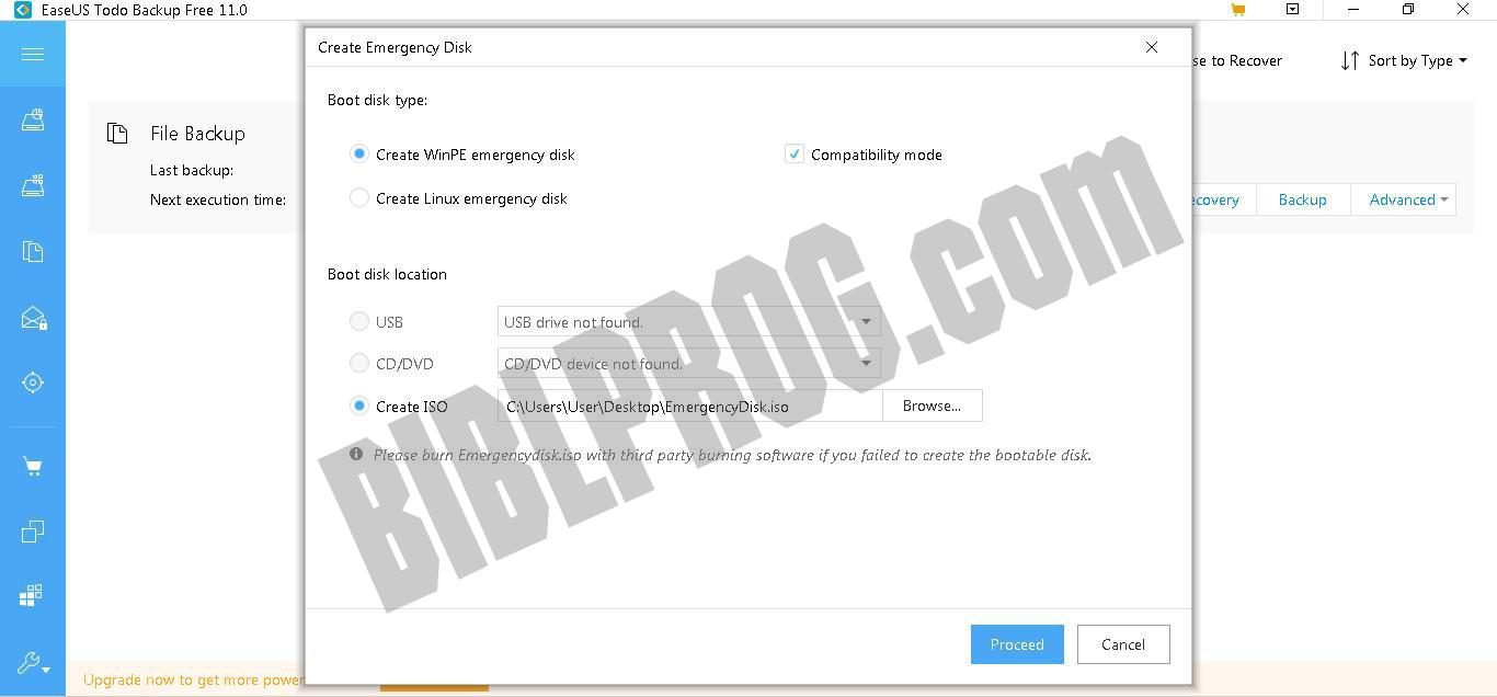 Screenshot EaseUS Todo Backup Free