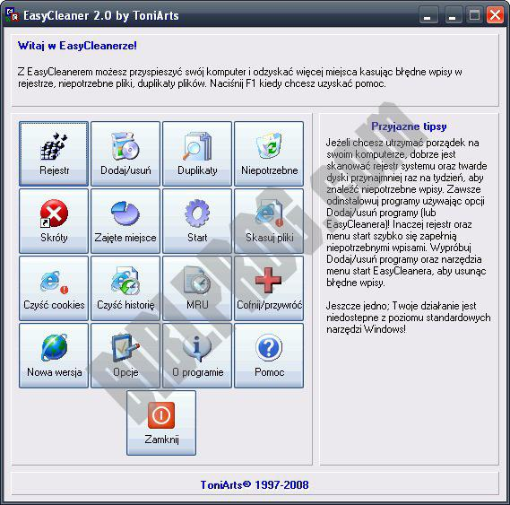 Screenshot EasyCleaner