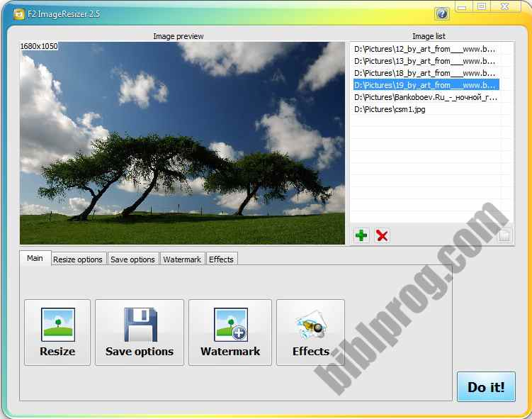 Screenshot F2 ImageResizer