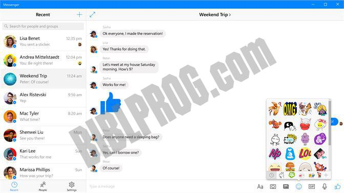 Screenshot Facebook Messenger