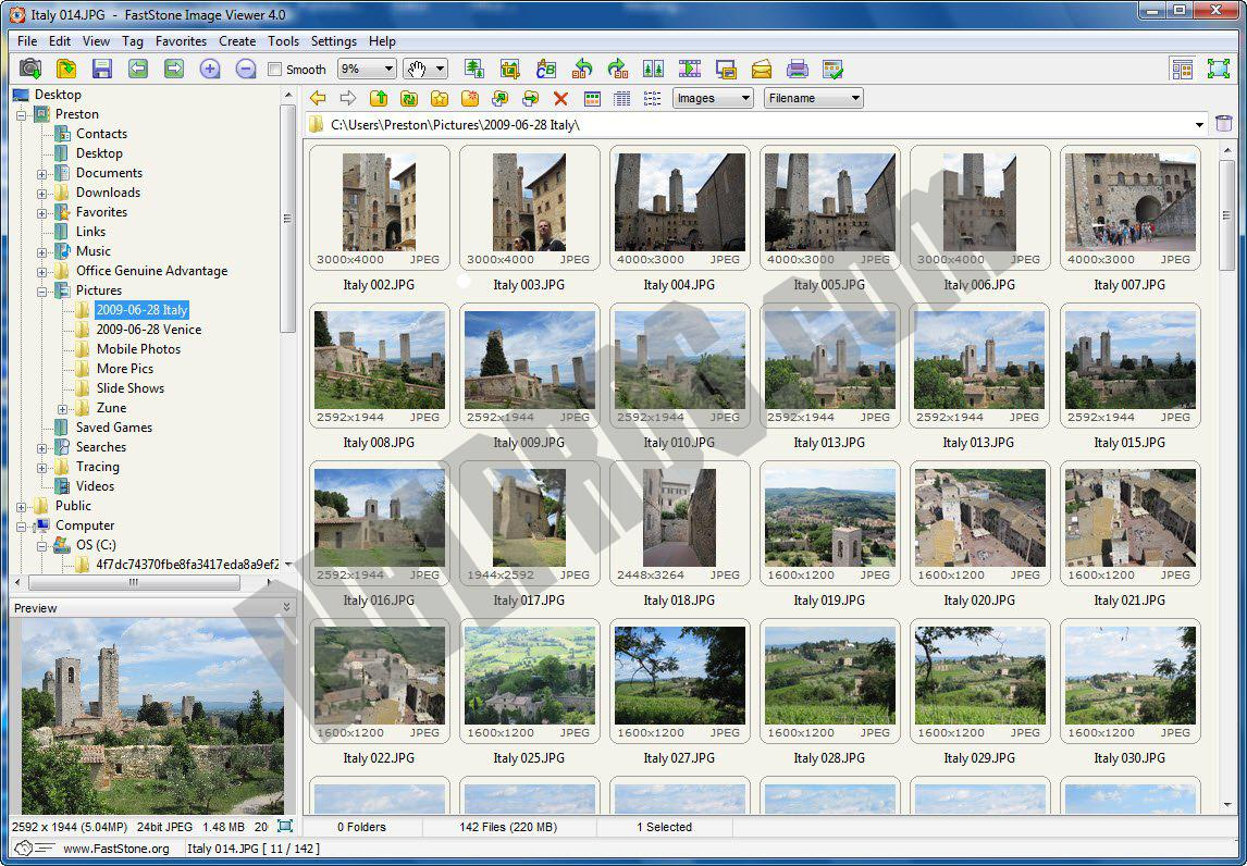 Screenshot FastStone Image Viewer