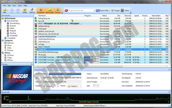 Screenshot GetGo Download Manager