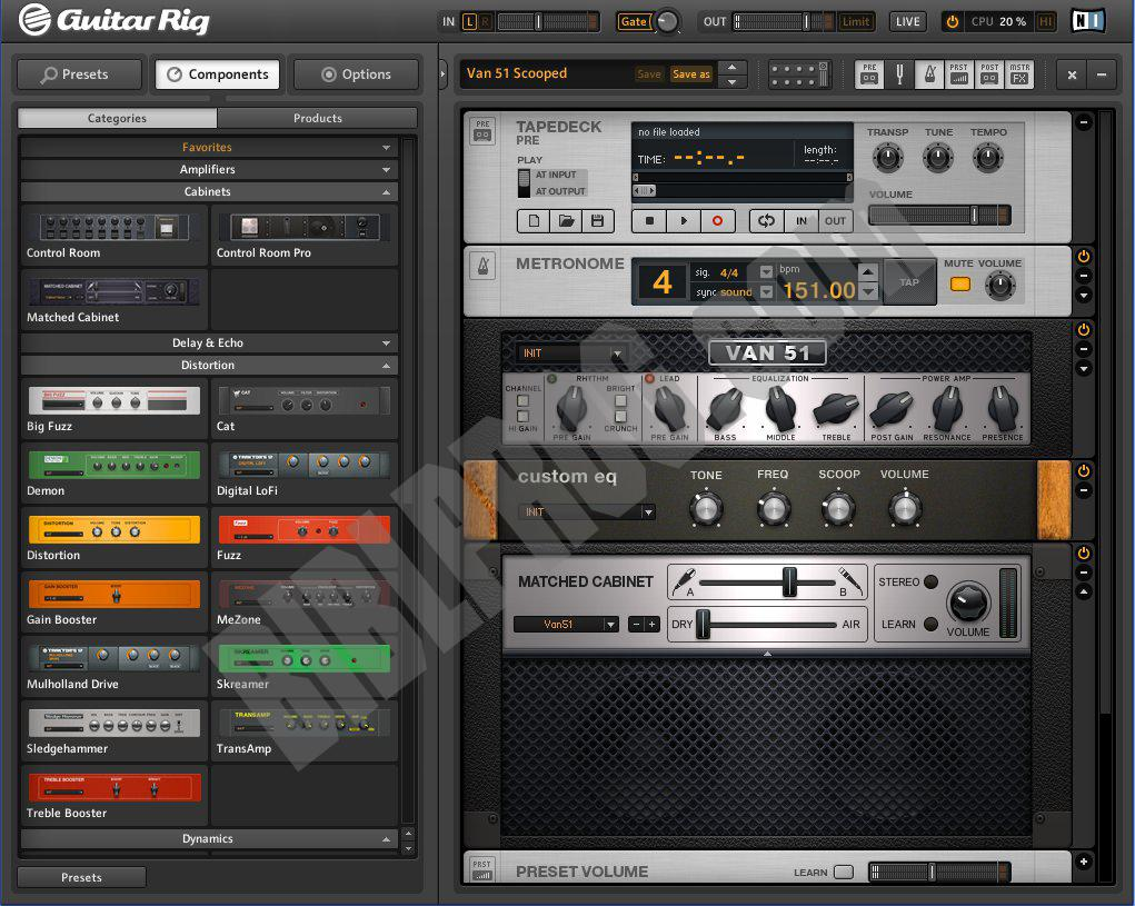 Screenshot GUITAR RIG