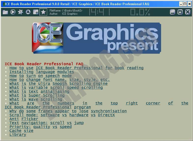 Screenshot ICE Book Reader