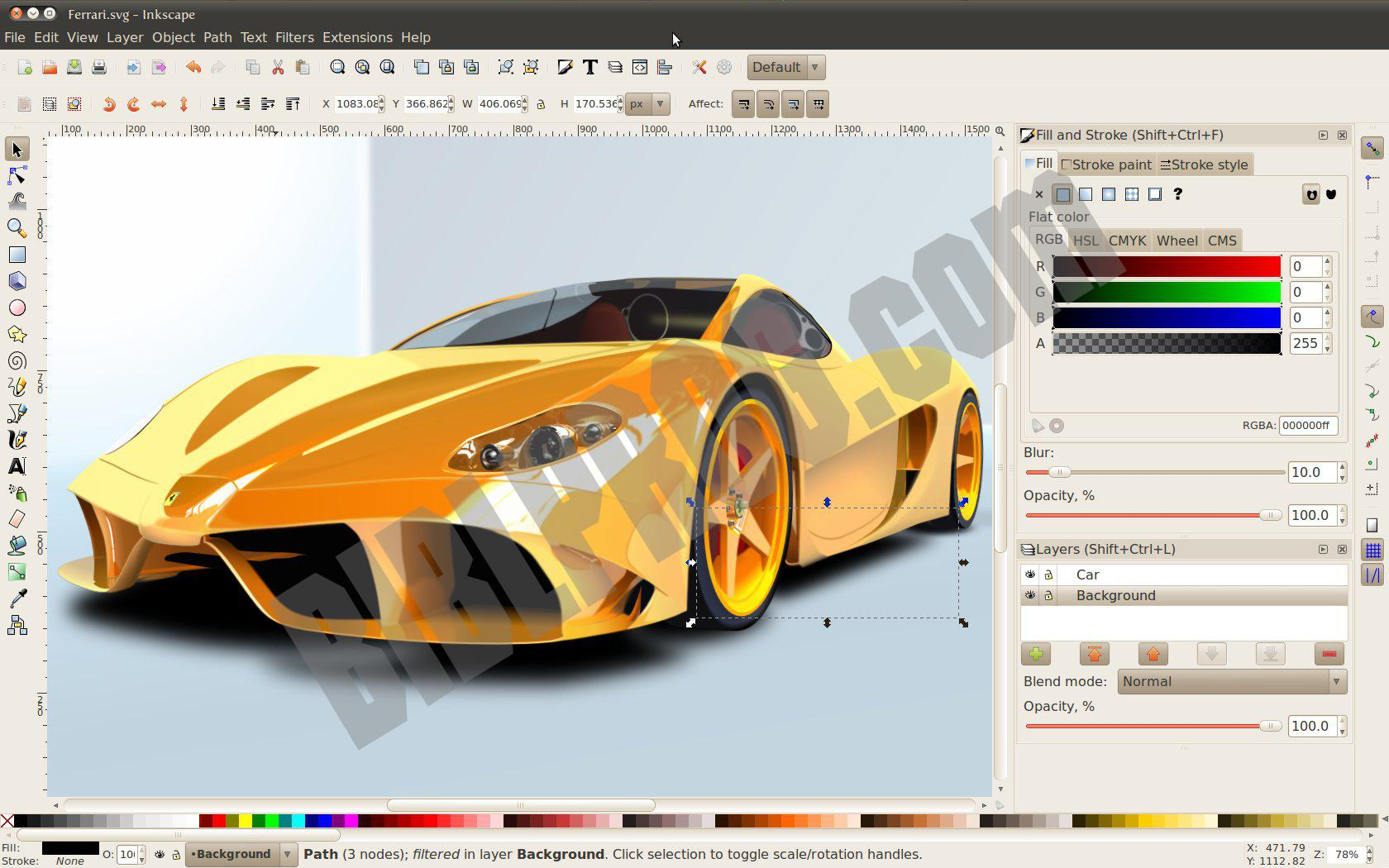 Screenshot Inkscape
