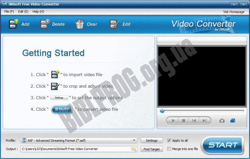 Screenshot iWisoft Free Video Converter