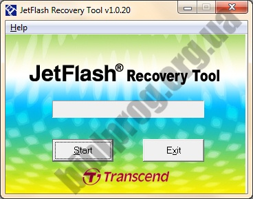 Screenshot JetFlash Recovery Tool