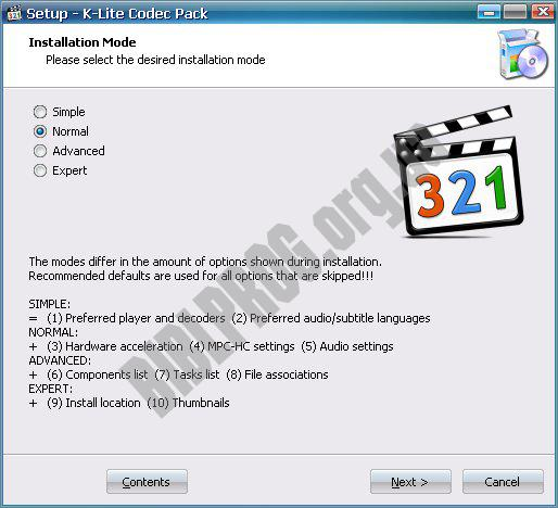 Screenshot K-Lite Codec Pack Full