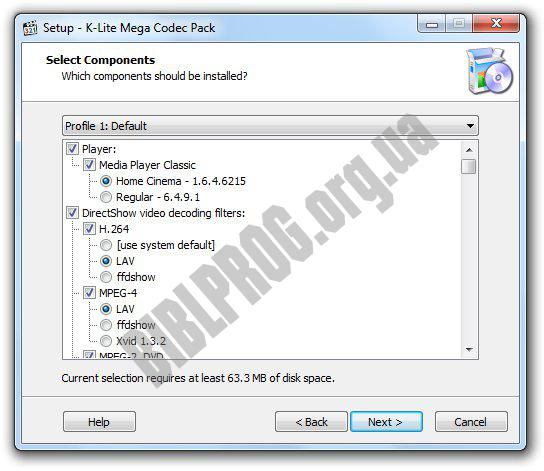 Screenshot K-Lite Mega Codec Pack