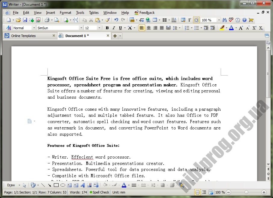 Screenshot WPS Office Home Free