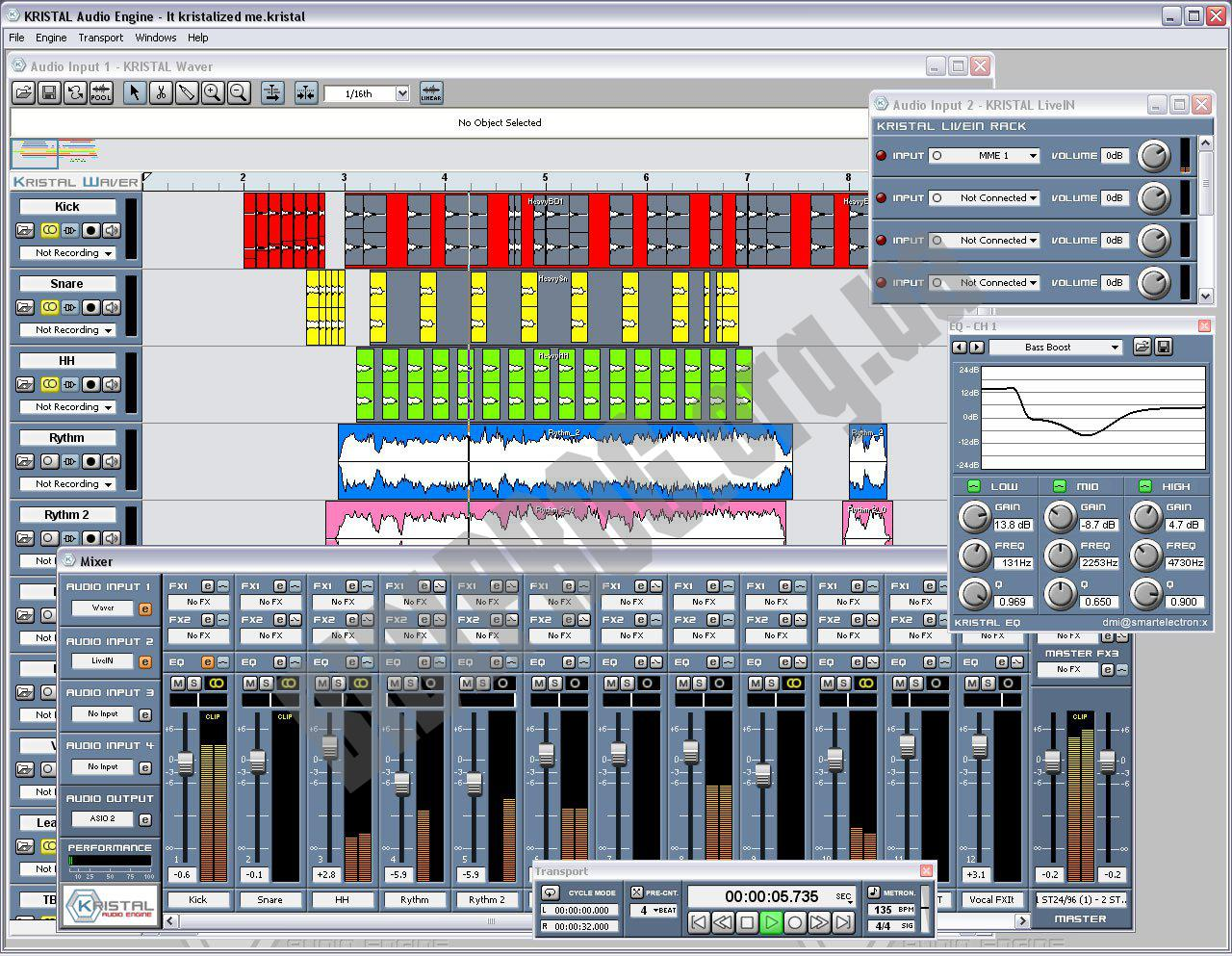 Screenshot KRISTAL Audio Engine