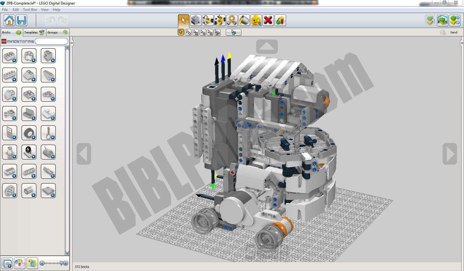 Screenshot LEGO Digital Designer