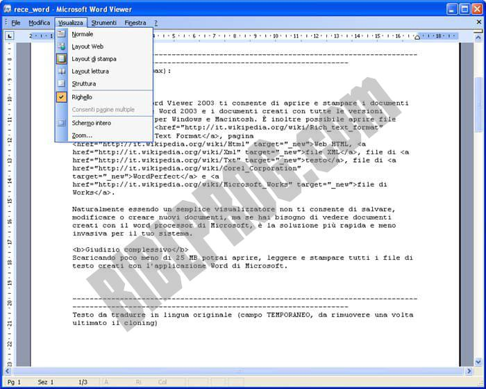 Screenshot Microsoft Office Word Viewer