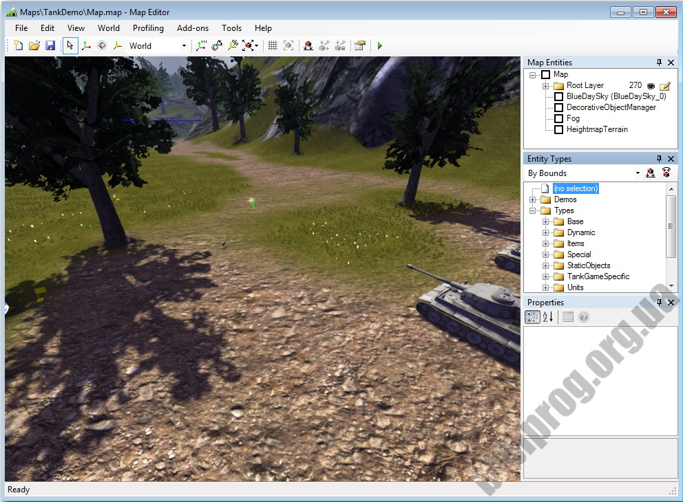 Screenshot NeoAxis 3D Engine