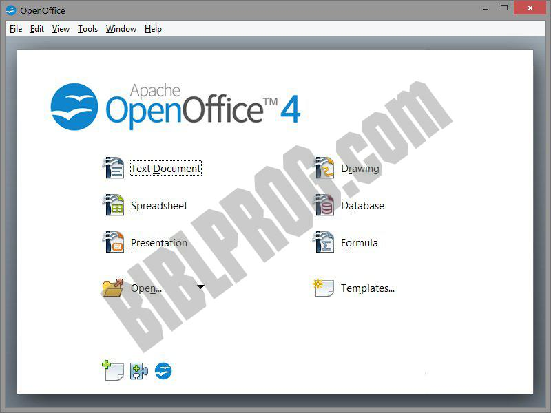 Screenshot OpenOffice.org
