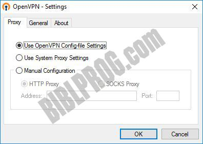 Screenshot OpenVPN