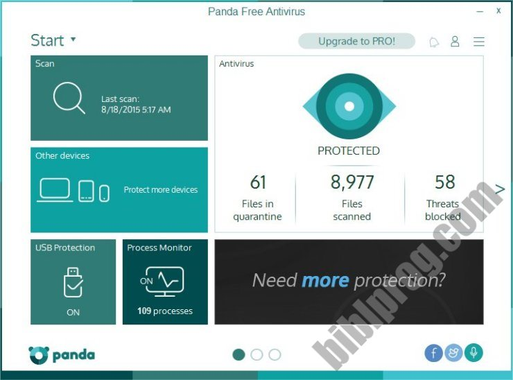 Screenshot Panda Free Antivirus