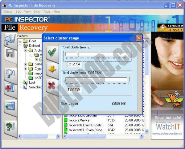 Screenshot PC Inspector File Recovery