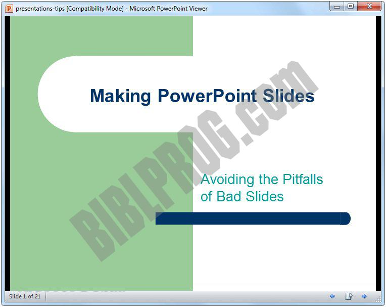 Screenshot Microsoft Office PowerPoint Viewer