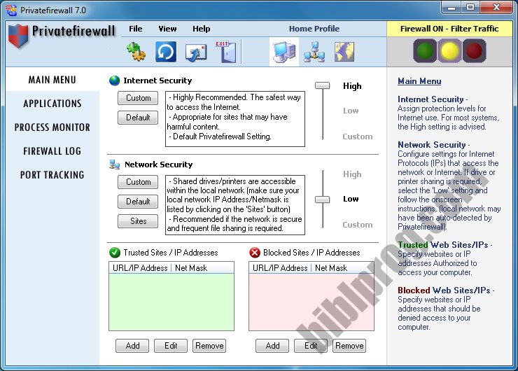 Screenshot PrivateFirewall