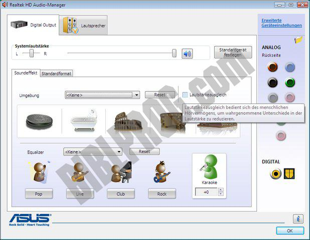 Screenshot Realtek High Definition Audio Drivers