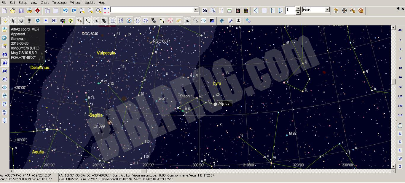 Screenshot SkyChart