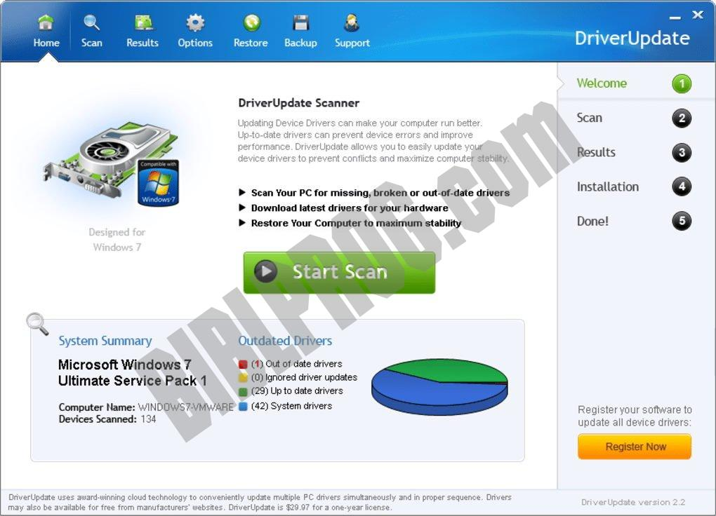 Screenshot SlimDrivers Free