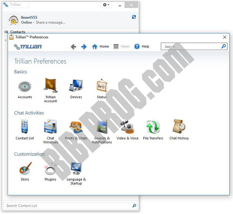 Screenshot Trillian