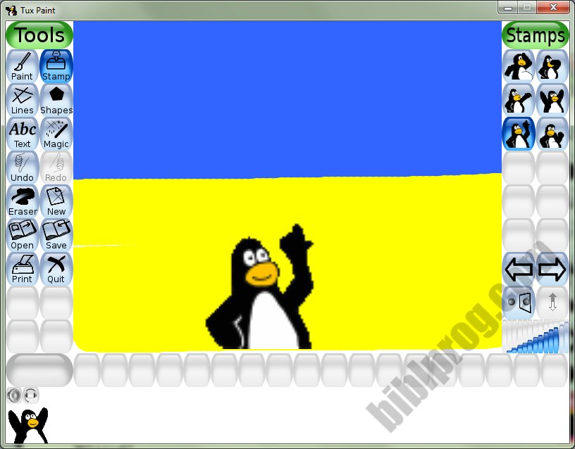 Screenshot Tux Paint
