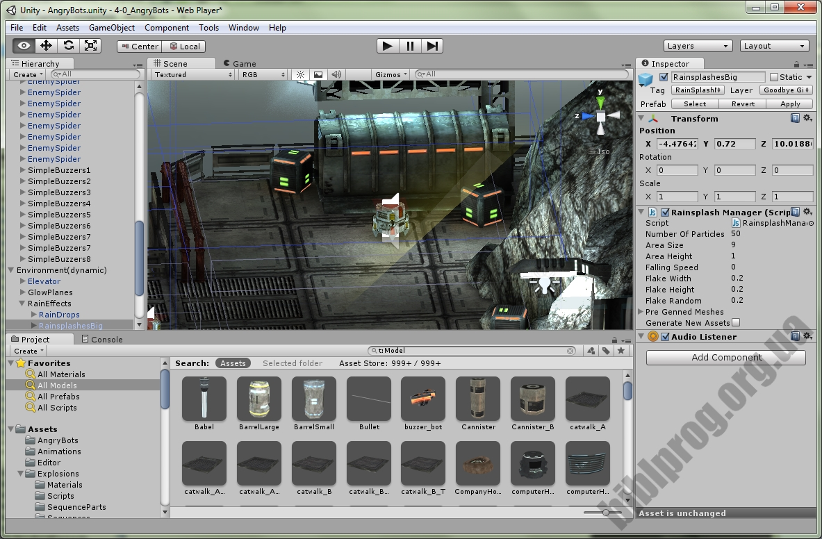 Screenshot Unity 3D