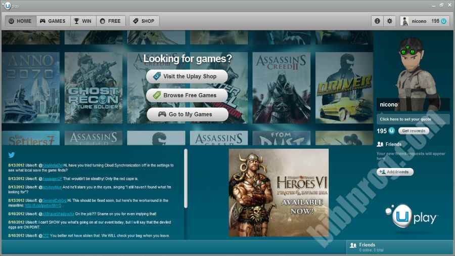 Screenshot uPlay