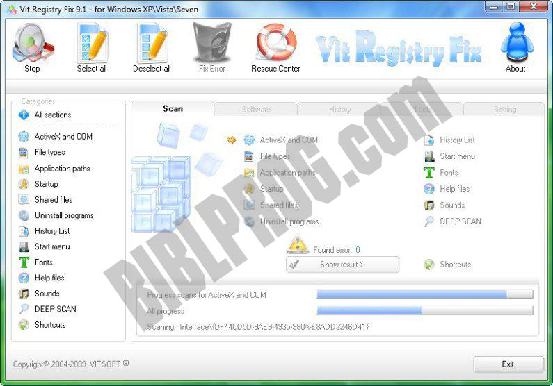 Screenshot Vit Registry Fix Free