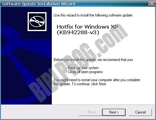 Screenshot Windows Installer