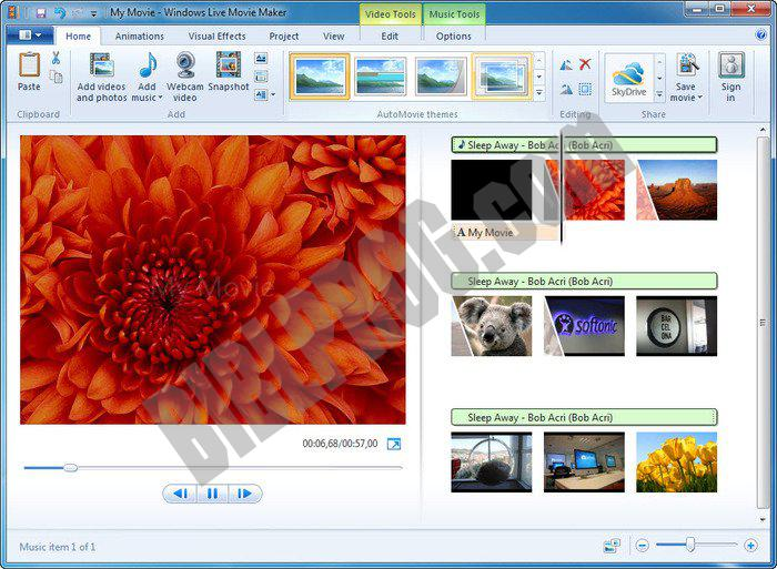 Screenshot Windows Live Movie Maker