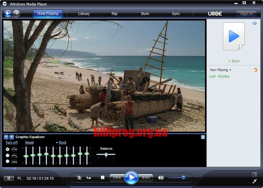 Screenshot Windows Media Player