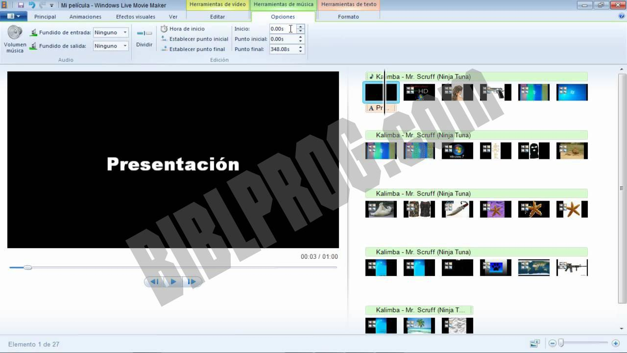 Screenshot Windows Movie Maker