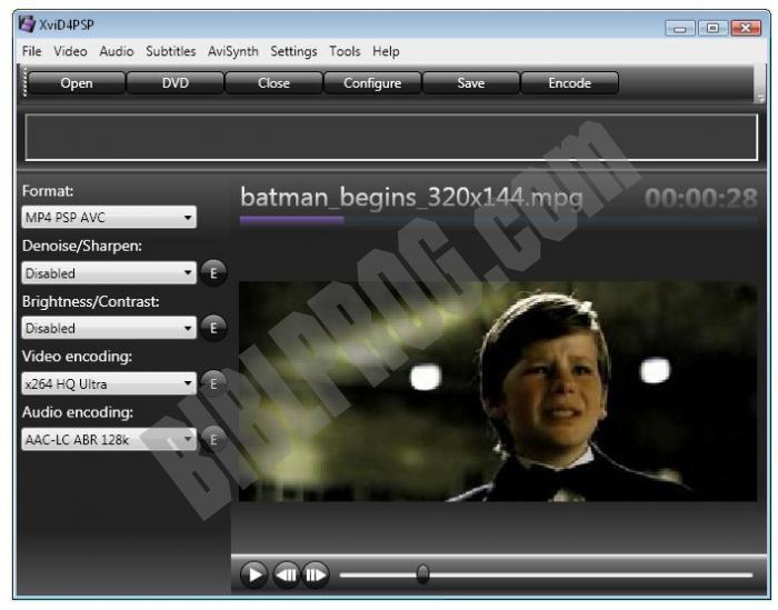 Screenshot XviD4PSP