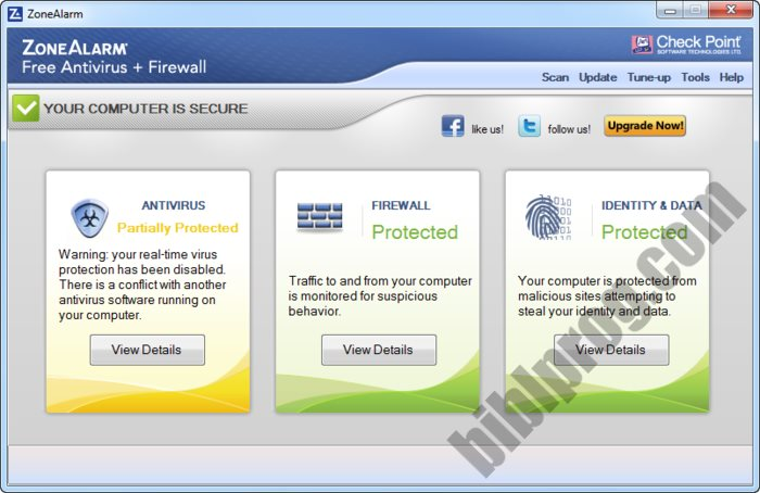 Screenshot ZoneAlarm Free Antivirus + Firewall